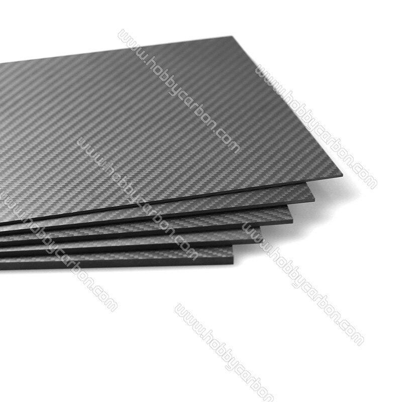 1.0x500x600mm 3K pure Carbon fiber twill matte sheets plates