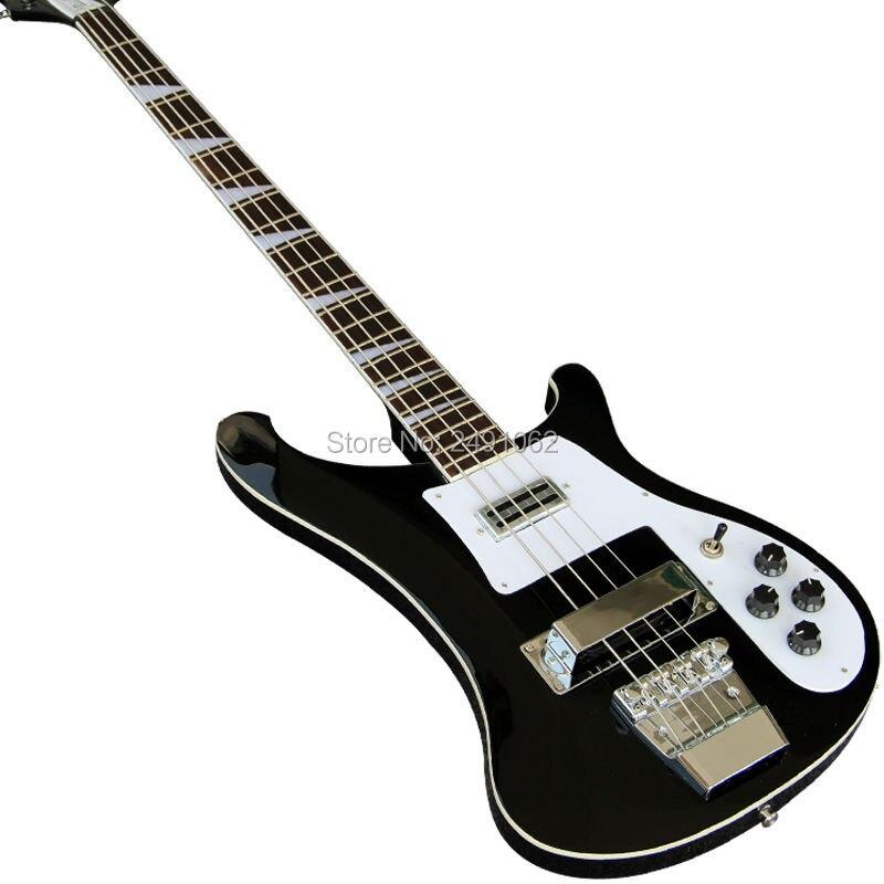 Haute qualité personnalisé personnalisé électrique guitare basse nouveau noir 4 Cordes Guitare Livraison Gratuite
