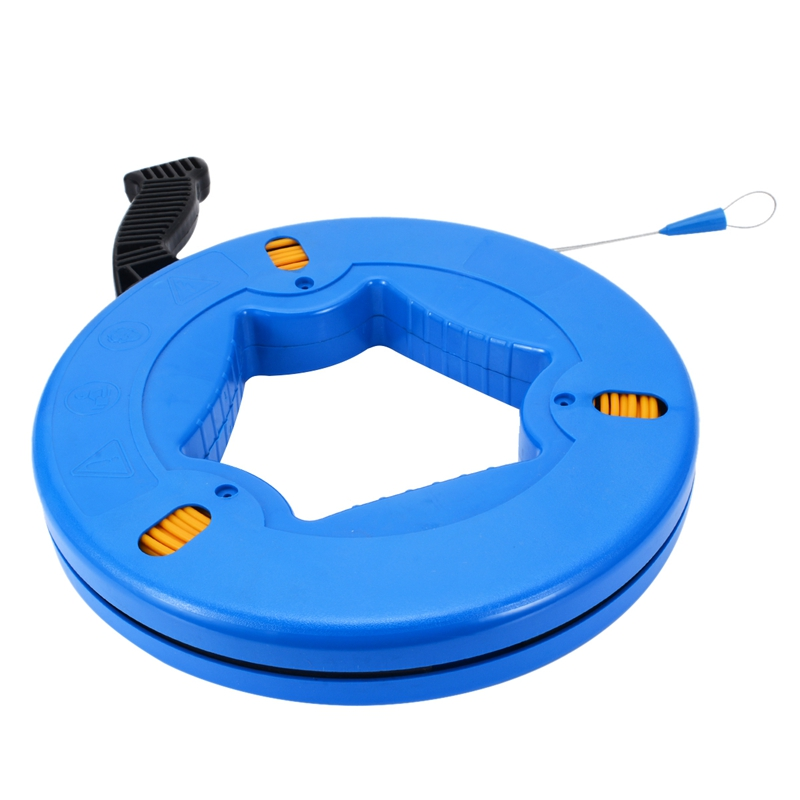 HOT-Portable 45 Meter Fiberglass Fish Tape Fishing Tool Reel Puller Conduit Duct Rodder Pulling Wire Cable