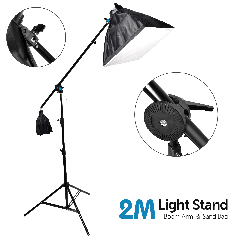 ZUOCHEN 6x25 Вт Светодиодный светильник для фотостудии комплект 50x70 см софтбокс светильник ing набор софтбоксов стрелы кронштейн светильник для ... - 3