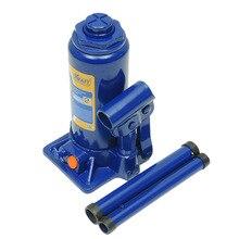 Домкрат гидравлический KRAFT КТ 800016 (Подъем 200-405 мм, телескопический шток, предохранительный клапан от перегрузки, грузоподъемность 6 т)