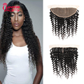 Brazilian Deep Curly Hair Lace Frontal Closure Brazilian Curly Hair Extension 13x4 Human Hair Lace Frontal Brazilian Deep Wave