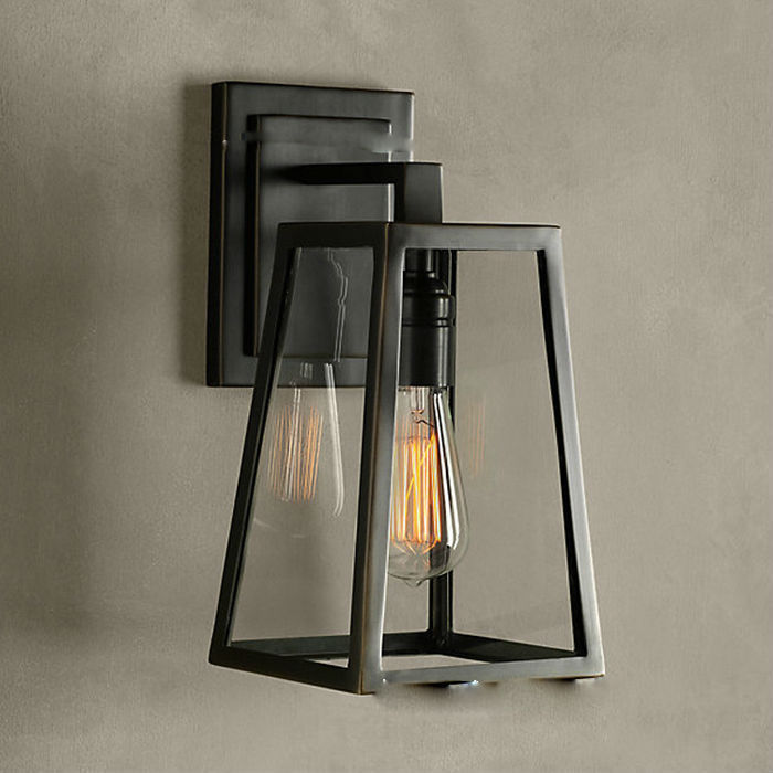 Vintage Wall Lamp Industrial Edison Lamps E27*1pcs Mounted Art Deco Case RH Loft Lighting For Home Kitchen Bar 1 piece free shipping anodizing aluminium amplifiers black wall mounted distribution case 80x234x250mm