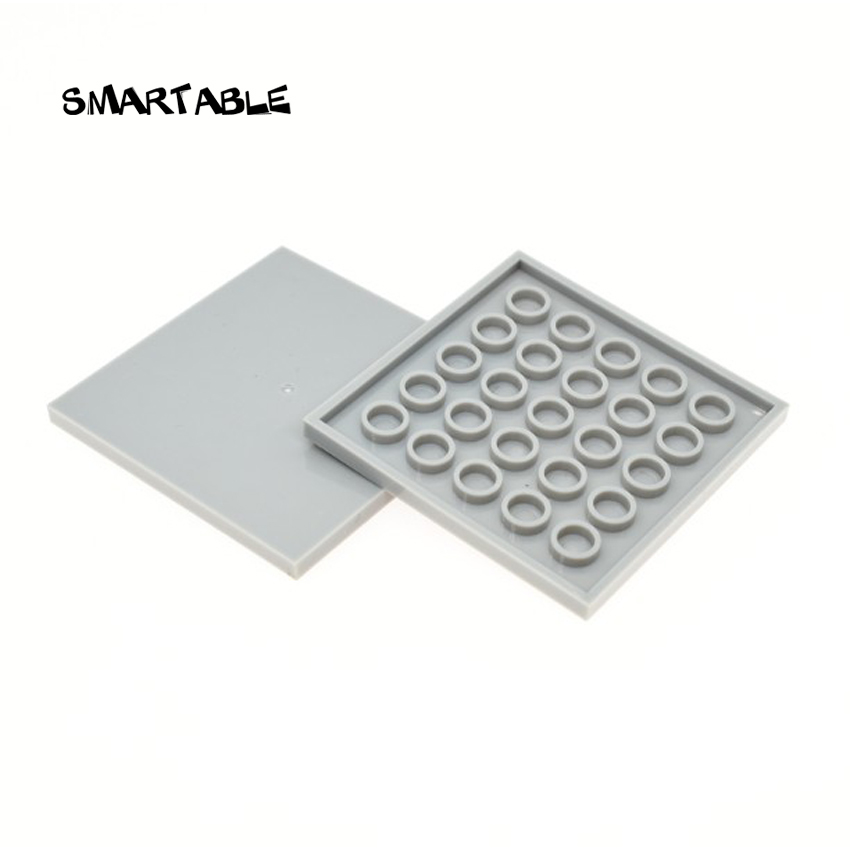 Smartable Tile 6x6 With Groove Building Blocks MOC Parts DIY Toys For Kids Creative Compatible Major Brands 10202 Toys 10pcs/lot