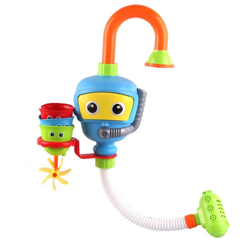 цена на Baby Bath Toys for Kids Water Bathing Toys Spray Sucker for Bathroom for Children Boys Girls Random Color