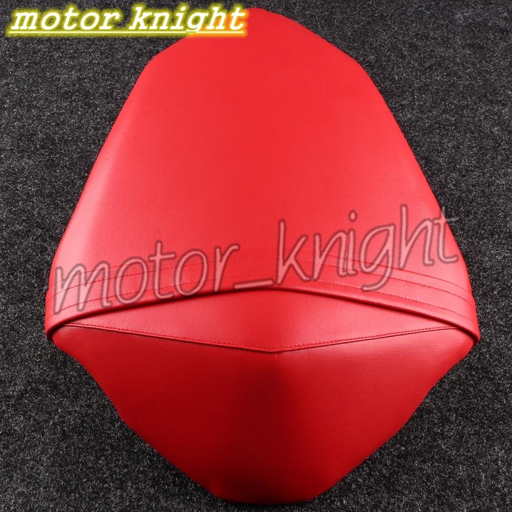Leather Rear Passenger Seat Soft Cushion Fit KAWASAKI Z800 13-16 Red Pillion