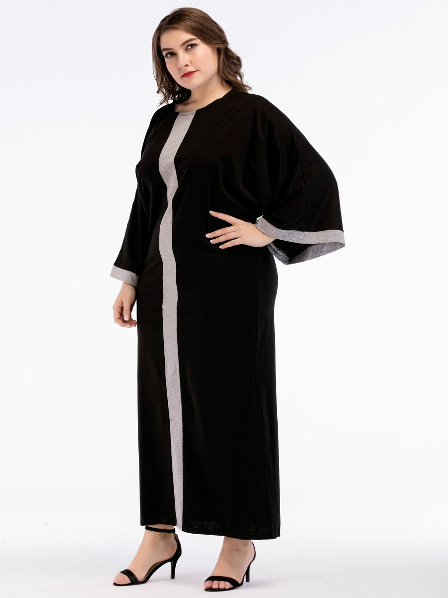 Oversized Maxi Long Night Dress Summer 2018 Fashion Women's Black Stripe Dressing Gowns Big Size Sleepwear Plus Size Nightgowns 1
