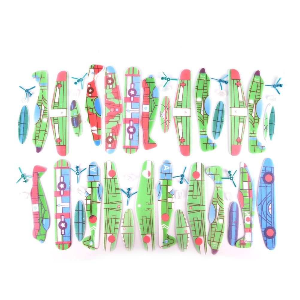 10 pièces/lot mousse bricolage avion main jeter vol planeur avions avion sac de fête remplisseurs enfants enfants jouets jeu 19*19cm (lot de 10)