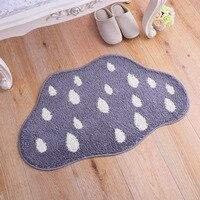 עננים כהים פוליאסטר יורד גשם מקיר לקיר שטיחון שטיחים Tapete אופנה אזור שטיח נגד החלקה סלון בית תפאורה H
