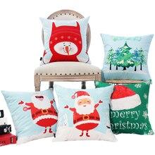 Christmas Santa Claus Cushion New Year Plush Cute Decorative Pillows Home Decor Pillow Cartoon Snowman