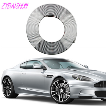 8 m car tire rim tire edge shield shiny cool DIY sticker for Volkswagen vw POLO Tiguan Passat CC Golf GTI R20 R36 EOS Scirocco image