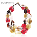 Milky Color Acrylic Leaf Statement Collar Necklace For Women Acrylic Bead Necklace Ethnic Necklace Jewelry