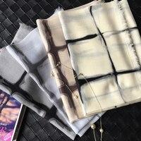 100%cashmere hand painting plaid women's fashion scarfs shawl pashmina 80x200cm wholesale retail