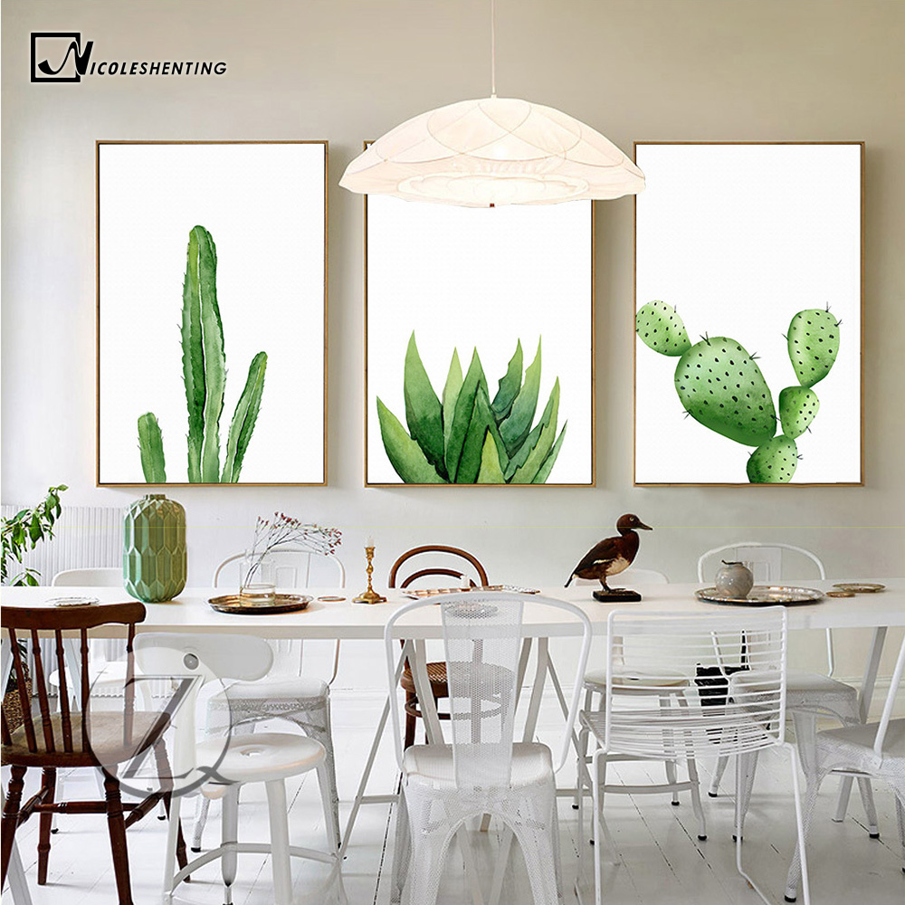 Plant Cactus Nordic Poster Print Minimalist Wall Art