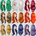 13colors available long wavy white/red european westen daily hair synthetic hair wig,hot fashion ladies party hair cosplay wig
