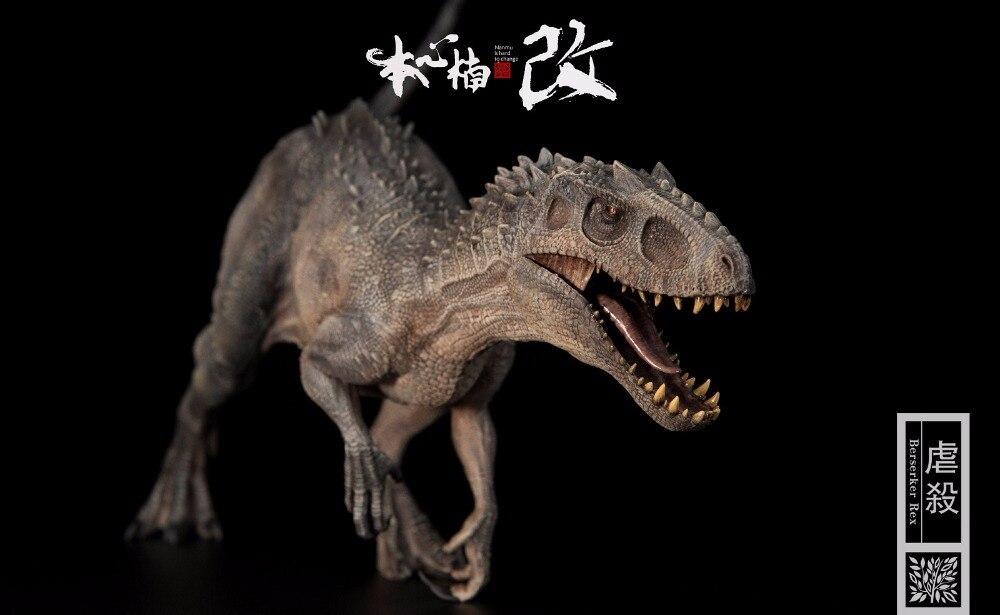 Jurajski świat Bereserker Rex T REX malowane pcv 1/35 muzeum dinozaurów klasy modelu w Figurki i postaci od Zabawki i hobby na  Grupa 1