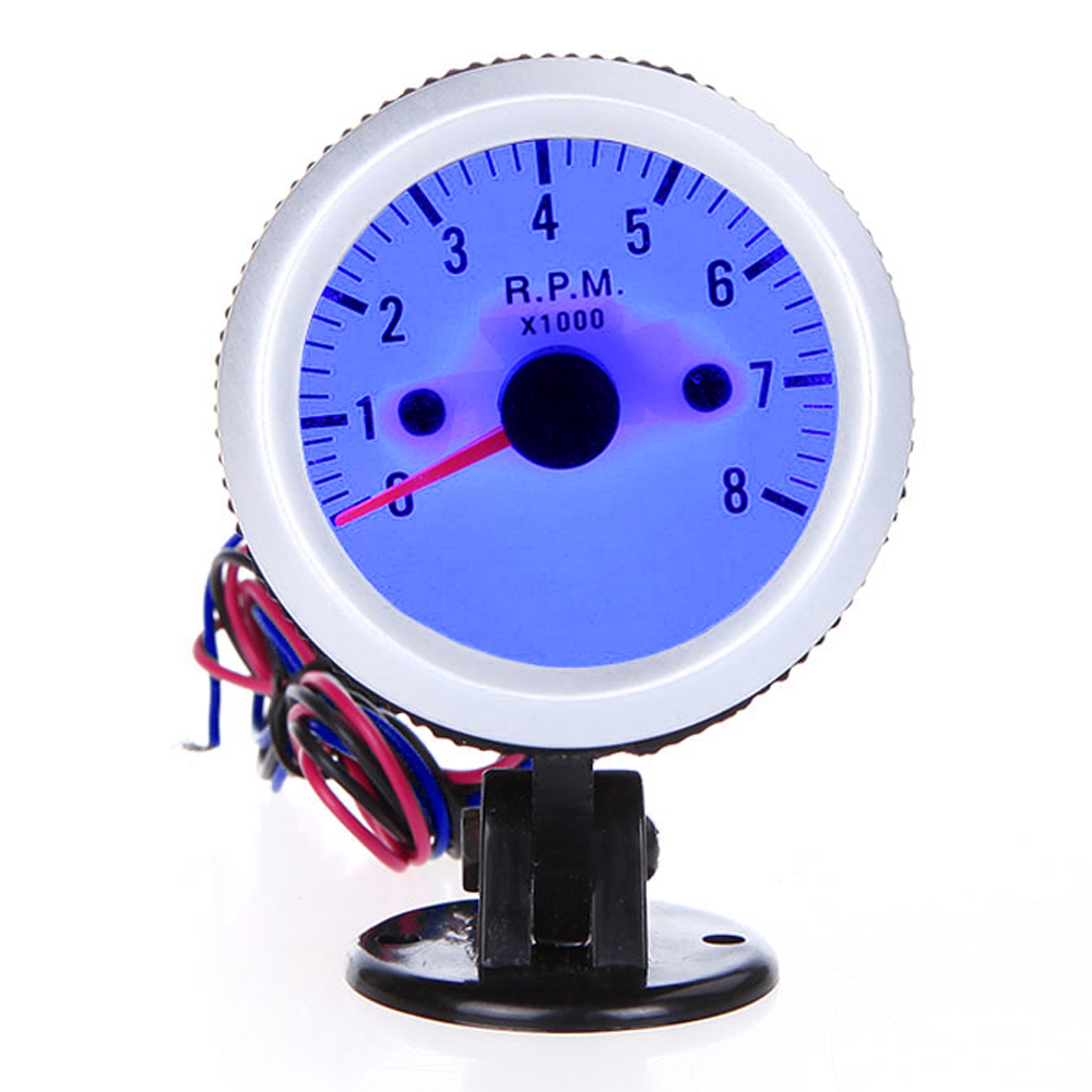Image 3 - For 4*6*8 Cylinder Tachometer Car Motor Gauge Tacho Meter Gasoline 12V DC Blue-in Tachometers from Automobiles & Motorcycles