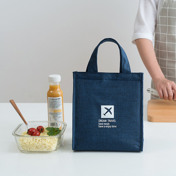 Fashion Portable Thermal Lunch Bag Food Fresh Bento Pouch Office Picnic Drink Cold Insulation Organizer Tote Accessories Supply