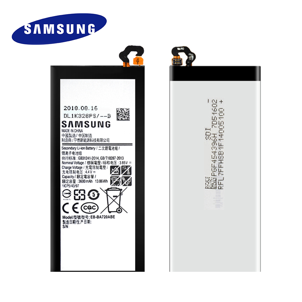 100 Original Replacement Battery EB BA720ABE For Samsung Galaxy A7 2017 SM A720 A720 Genuine Phone Batteria 3600mAh Free Tools in Mobile Phone Batteries from Cellphones Telecommunications