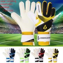 Профессиональные Детские Молодежные взрослые Вратарские футбольные перчатки защита пальцев утолщенные латексные футбольные вратарские перчатки размер 7 8 9