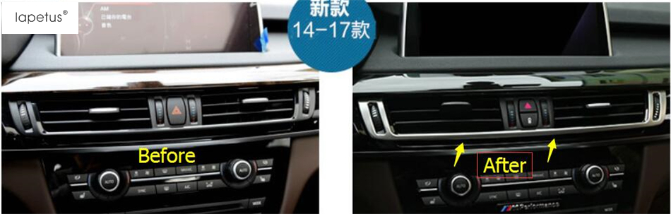 Accessories For BMW X5 F15 X6 F16 2015-2018 Side Air AC Outlet Vent Kit Trim