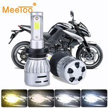 LED 4300K 6500K Motorcycle Headlight Lights LED H4 HS1 LED H7 H11 H1 LED 3000K 8000K LED Moto Motorbike Scooter Headlamp Bulbs(China)