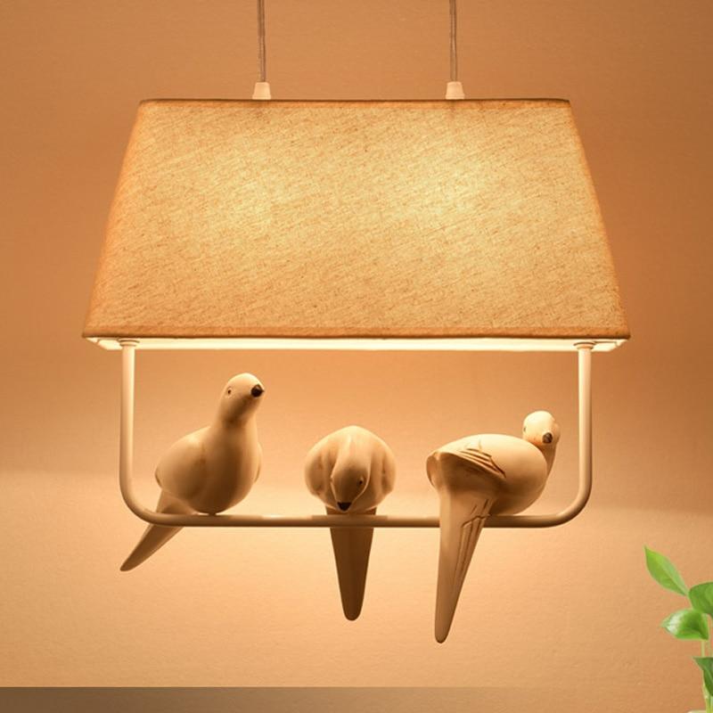 New Design Style Fabrics Pendant Lamp Creative Bird Pedant
