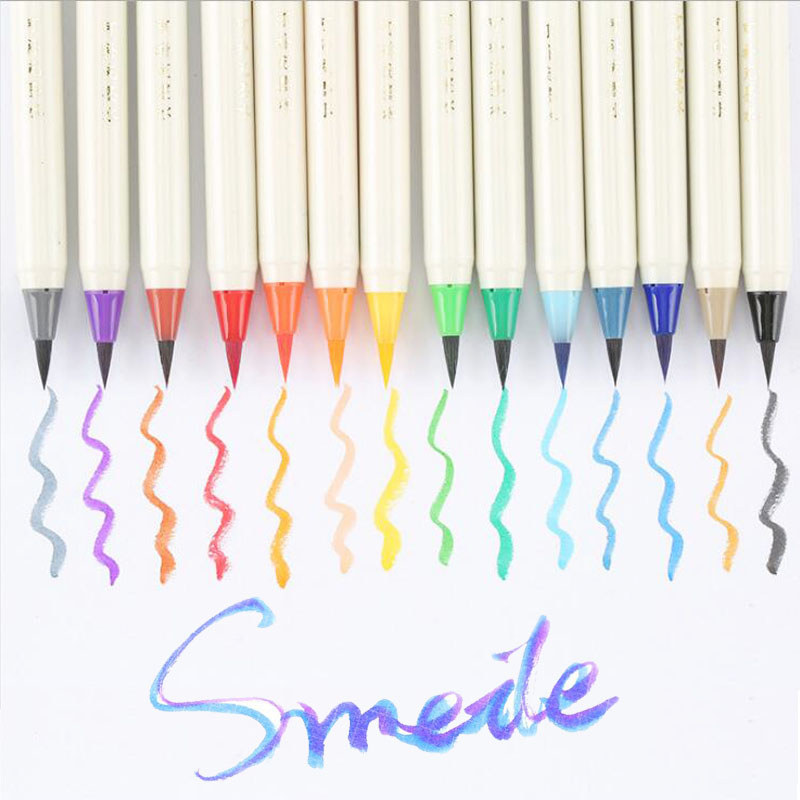 7 Colors Set Soft Painting Brush Pen Watercolor Art Marker Pen Effect Liquid Color Marker Pens Blue Orange Green Purple R15 расчески и щетки wet brush watercolor collection orange цвет orange variant hex name f8c54f