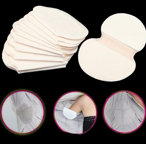 100 Pcs/lot Disposable Armpit Underarm Sweat Pads Anti Perspiration Deodorant Sweat Absorbing Pads Dress Clothing Shield Unisex