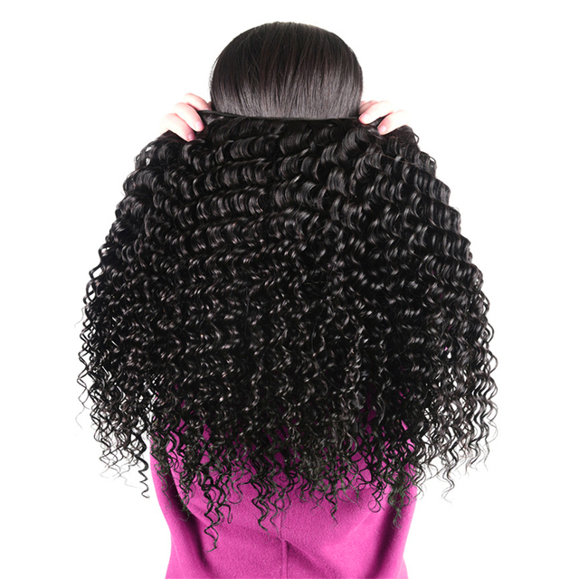 Brazilian Deep Wave Human Hair Bundles With Lace Closure