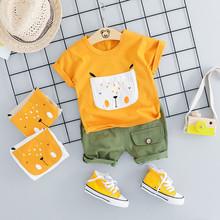 Toddler Baby Kids Boys Cartoon Dog Tops Short Pants Casual Outfits Set