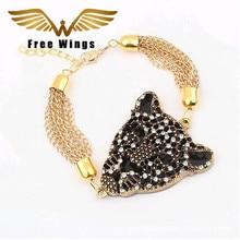 Новые ювелирные изделия Модные Ретро леопардовые роскошные изысканные золотые браслеты для женщин 35ds