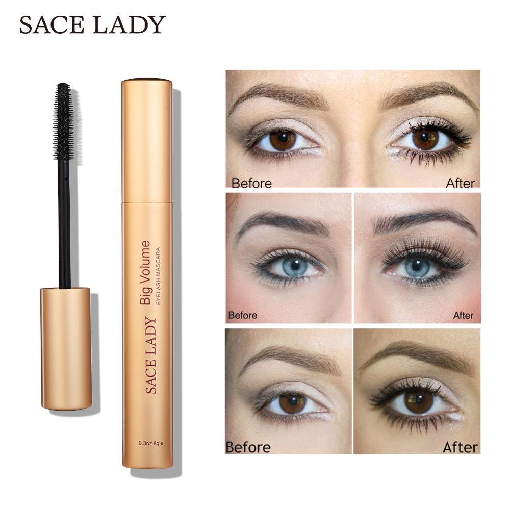 Buy Sace Lady Black Mascara Waterproof Volume Big Eyelash Curling Makeup Thick Eye Lashes Professional Rimel Make Up Natural Cosmetic From
