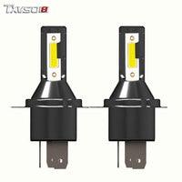 TXVSO8 5 Pairs LED H4 Car Headlight Bulbs Flip COB Chips 26000LM 6000K Fog Light Bulb 55W bombilla Brgiht Automobiles Headlamp