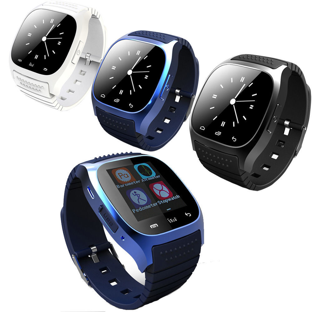 Bluetooth Smart Watch Sport Design Wrist Watch Support Dial Call SMS Function fo