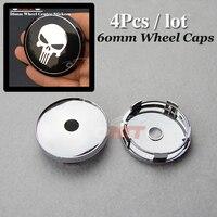 Wheel Center Cap 60mm 2 36inch Modified Custom For For Skull Logo Car Wheel Hub