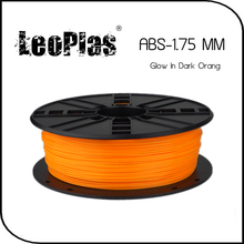 Worldwide Fast Delivery Direct Manufacturer 3D Printer Material 1kg 2.2lb 1.75mm Glow In Dark Orange ABS Filament