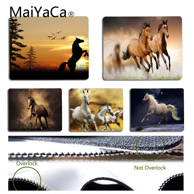 MaiYaCa Funny Dashing Horse Gamer Speed Mice Retail Small Rubber Mousepad Unique Desktop Pad Game Mousepad