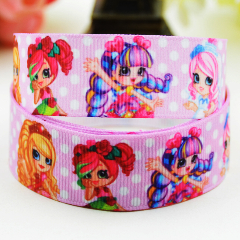 7/8 (22mm) Shopping girl SPK sweet Cartoon Character printed Grosgrain Ribbon party deco ...
