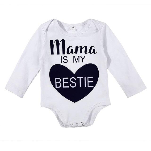 c9aa61d1028c43 Neue Chrismas Babykleidung Neugeborenes Baby Strampler 100% Baumwolle Brief  Design Langarm Overalls Winter Babys Overall