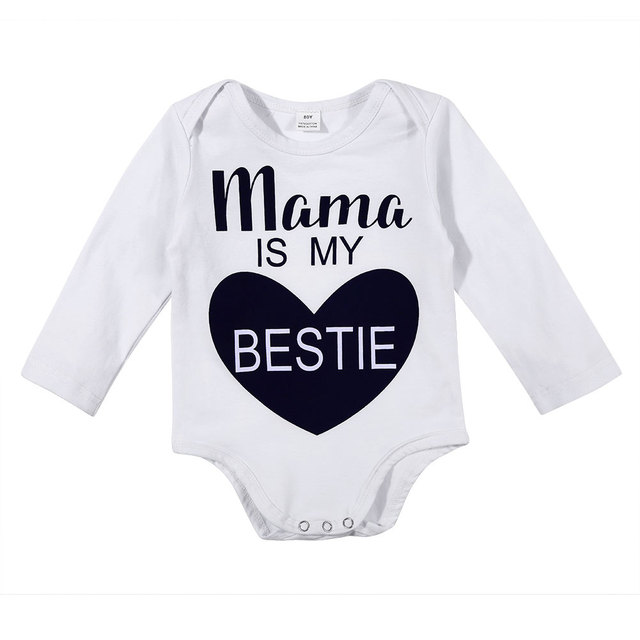 ab95898696ee New Chrismas Baby Boy Clothes Newborn Baby Romper 100%Cotton Letter ...