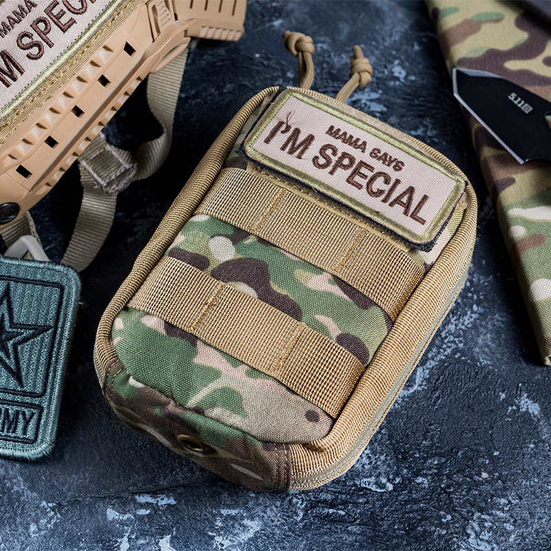OneTigris MOLLE Pouch First Aid Bag Multi-Purpose Compact Tactical Waist Bags Small Utility Pouch For Camping Hiking Hunting