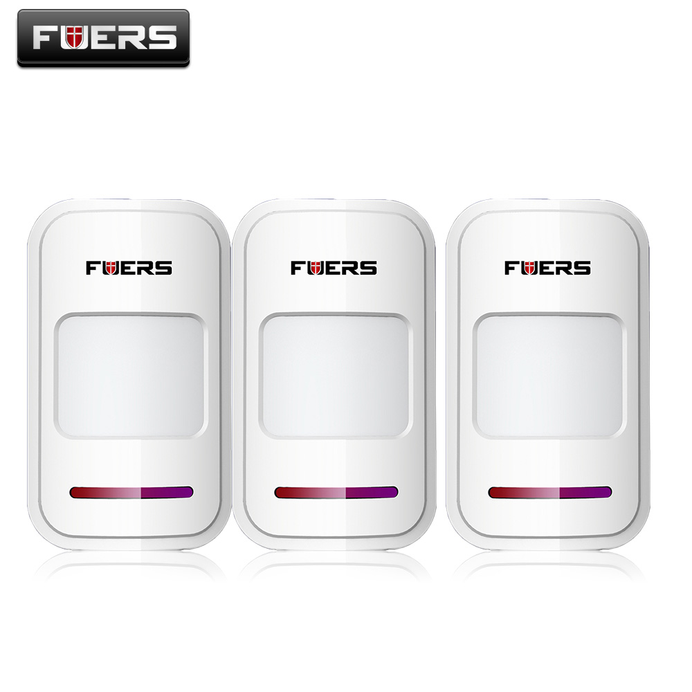 3pcs/Lot Fuers 433Mhz Wireless Intelligent PIR Motion Sensor Detector For GSM PSTN Home Alarm System without antenna Infrared 433mhz wireless pir sensor motion detector for wireless gsm pstn auto dial home security alarm system no battery