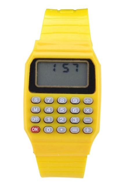 Ragazzi e ragazze silicone data display orologio elettronico multifunzione calcolatrice orologio bambini calcolatrice orologio blu