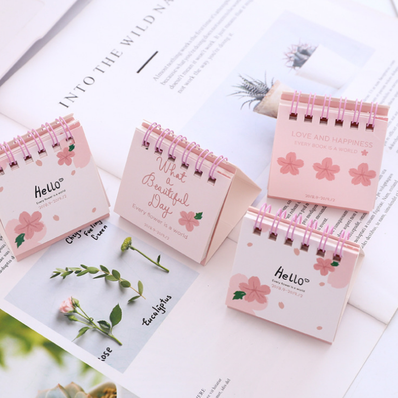 1 Piece 24.8cm Big Size 2019 Flamingo Calendar Office Stationery Desk Notebook Holiday Promotion Gift Girls Birthday Gift Calendar