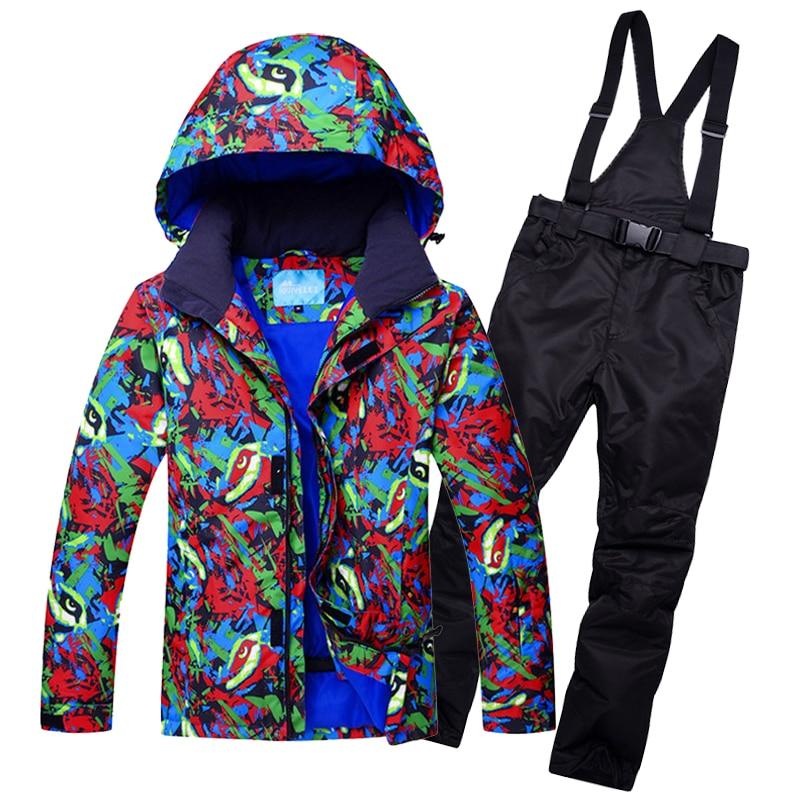 Hommes combinaison de Ski imperméable coupe-vent veste de Ski pantalon Super chaud en plein air Sport porter Snowboard femme respirant épaissir thermique