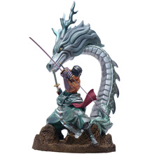 Anime One Piece GK Roronoa Zoro Dragon Fighting Ver. PVC Action Figure figura Collection Model Toys free shipping sexy 9 one piece anime p o p cp9 kalifa boxed 22cm pvc action figure collection model doll toys gift