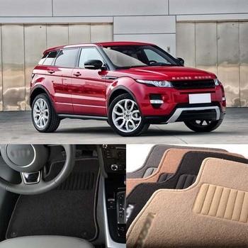 5PCS Premium Auto Fabric Nylon Anti-slip Floor Mats Carpet For Land Rover Evoque