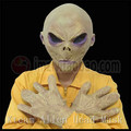 Halloween Party Cosplay Scary Silicone Face Mask Alien Extra Terrestrial Party ET Horror Rubber Latex Masks For Halloween Mask