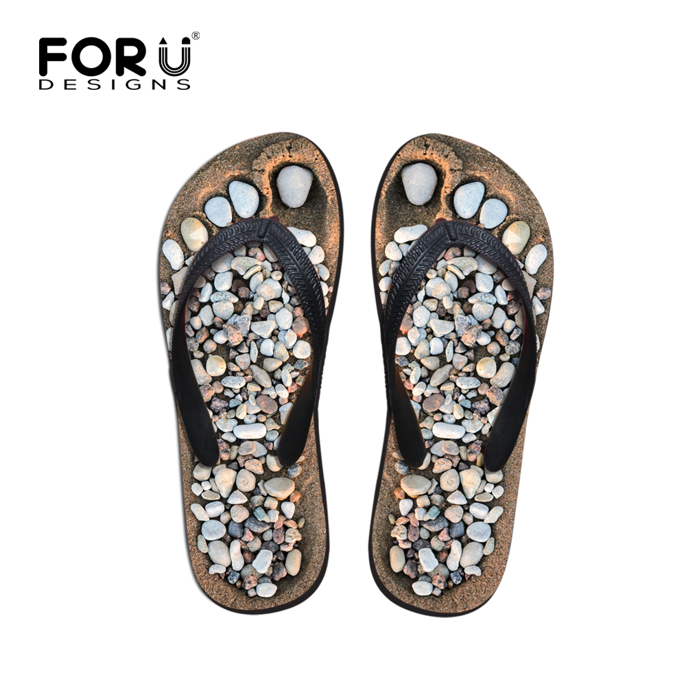 Forudesigns Fashion Womens Summer Beach Slippers 2018 Novelty Floral Printed Rubber Flip Flops For Woman Female Sandals Shoes Modern Techniques Women's Shoes